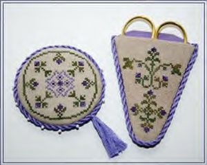 amethyst collection scissors case and pin keep