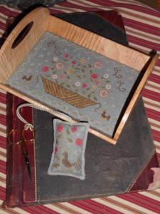 floral basket tray with fob