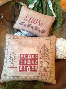 snowed in pinkeep & ornament