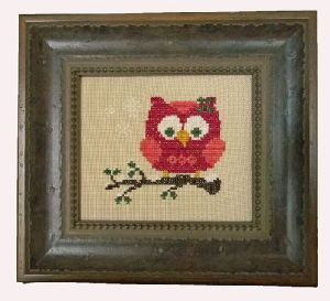 red holiday owl