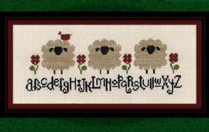 spring sheep alphabet